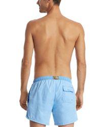 BOSS - Blue 'white Shark' | Quick Dry Swim Trunks for Men - Lyst