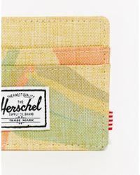 Herschel Supply Co. Natural Charlie Card Holder Exclusive To Asos for men