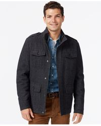 Tommy Hilfiger   Gray Wool Military Jacket for Men   Lyst