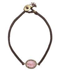 Brooke Gregson - Pink Tourmaline And Diamond Silk Bracelet - Lyst