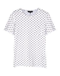 Villain - Bay White Polka Dot Cotton T-Shirt - Lyst
