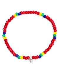Luis Morais - Red Mini Skull Beaded Bracelet - Lyst