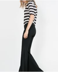 Zara | Black High Neck Top | Lyst