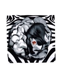 Delicious Freaks - Gray Square Scarf - Lyst