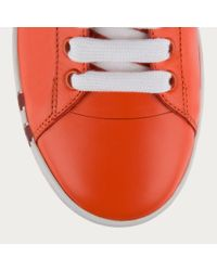 Bally Wivian Women ́s Leather Trainer In Blaze Orange