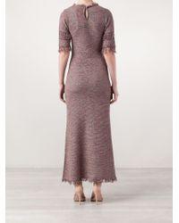 Isabel Marant Pink 'Geena' Knit Maxi Dress