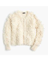 J.Crew - White Collection Bouclé Sweater-jacket - Lyst