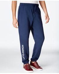 LRG Blue Lifted 47 Sweatpants for men