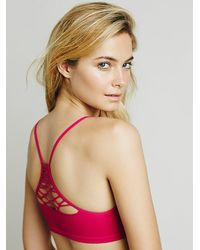 Free People - Red Baby Racerback - Lyst