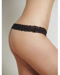 Free People | Black Intimately Womens Astrid Printed Thong | Lyst