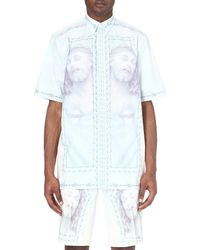 Givenchy White Jesus-print Cotton Shirt for men