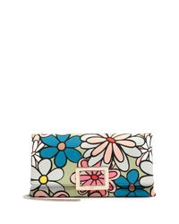 Roger Vivier - Multicolor Ines Floral-print Small Pochette Bag - Lyst