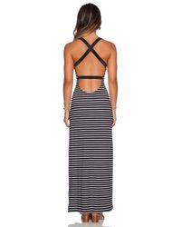 Blue Life Black Cut-Out Back Maxi Dress