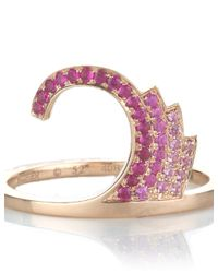 Ruifier | Pink Rose Gold Sapphire Galaxy Ring | Lyst