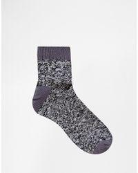ASOS | Black Ankle Length Boot Socks 3 Pack In Grey for Men | Lyst