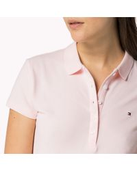 Tommy Hilfiger | Pink Cotton Stretch Polo | Lyst
