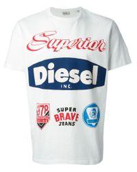 DIESEL - White 't-chrestos' T-shirt for Men - Lyst