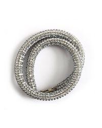 Atelier Swarovski - Slim Crystal Bolster Bracelet Blue Shade - Lyst