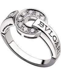 BVLGARI | - 18Ct White-Gold And Diamond Ring - For Women | Lyst