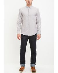 Forever 21   Gray Chambray-patched Pocket Shirt for Men   Lyst