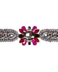 Venessa Arizaga | Pink Gunmetal Flower in The Sun Bracelet | Lyst