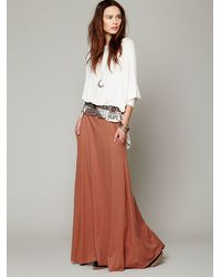 Free People Brown Fp Beach Womens Mad Cool Skirt