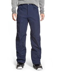 The North Face Blue 'freedom' Hyvent Waterproof Cargo Snow Pants for men