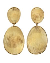 Marco Bicego - Metallic Lunaria 18k Gold Double-drop Earrings - Lyst