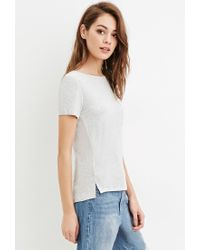 Forever 21 - Gray Classic Pocket Tee - Lyst