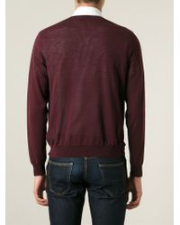 Valentino | Pink V-Neck Sweater for Men | Lyst