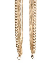Forever 21 Metallic Long Knotted Necklace