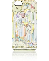 Swash London Yellow Carousel Champagne Printed Plastic Iphone 5 Case