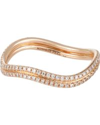 Monique Pean Atelier - Metallic Pave Double-wave Band - Lyst