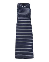 Vila | Blue Sleeveless Twist Back Striped Midi Dress | Lyst