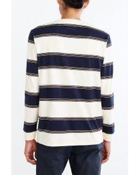 BDG Blue '80s Stripe Long-sleeve Tee for men