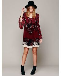 Free People Red Modern Chinoise Dress