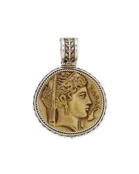 Konstantino - Metallic Silver And Bronze Demeter Coin Pendant - Lyst