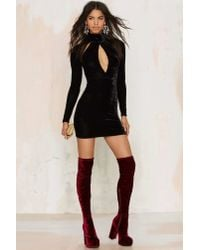 Oh My Love | Great Pretender Velvet Cutout Dress - Black | Lyst