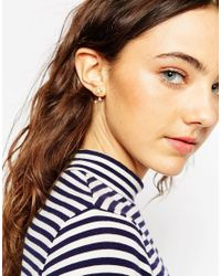 ASOS | Metallic Moon Star And Sparkle Swing Earrings | Lyst