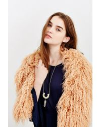 Urban Outfitters Brown Mongolian Faux Fur Collar Scarf