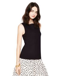 kate spade new york | Black Bow Back Ponte Top | Lyst