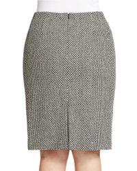 Lord & Taylor | Black Plus Tweed Pencil Skirt | Lyst