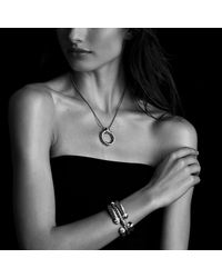 David Yurman | Blue Waverly Bracelet With Gold, 5mm | Lyst