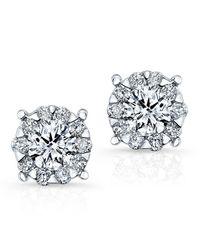 Anne Sisteron | 18kt White Gold Diamond Stud Earrings | Lyst