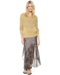 Free People | Natural Falling Star Pullover | Lyst