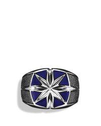 David Yurman - Metallic Maritime North Star Signet Ring With Lapis Lazuli for Men - Lyst