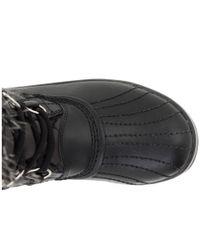 Sorel Black Tofino Cate Waxed-Canvas Boots