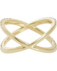 Eva Fehren | Metallic Champagne Diamond  Gold Shorty Ring | Lyst