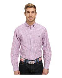 Vineyard Vines | Pink Tucker Shirt-wickham Check for Men | Lyst