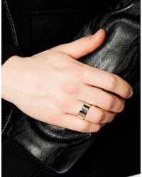 Seven London - Metallic Sterling Silver Band Ring for Men - Lyst